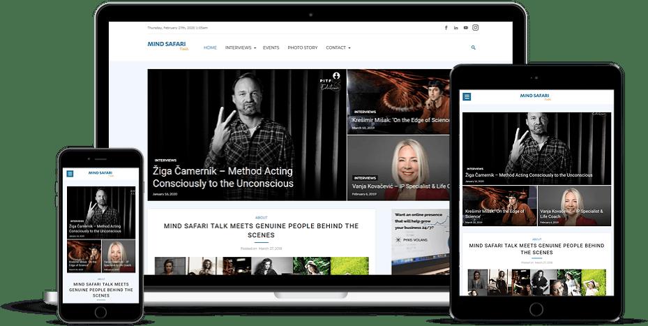 Mind Safari Talk Website